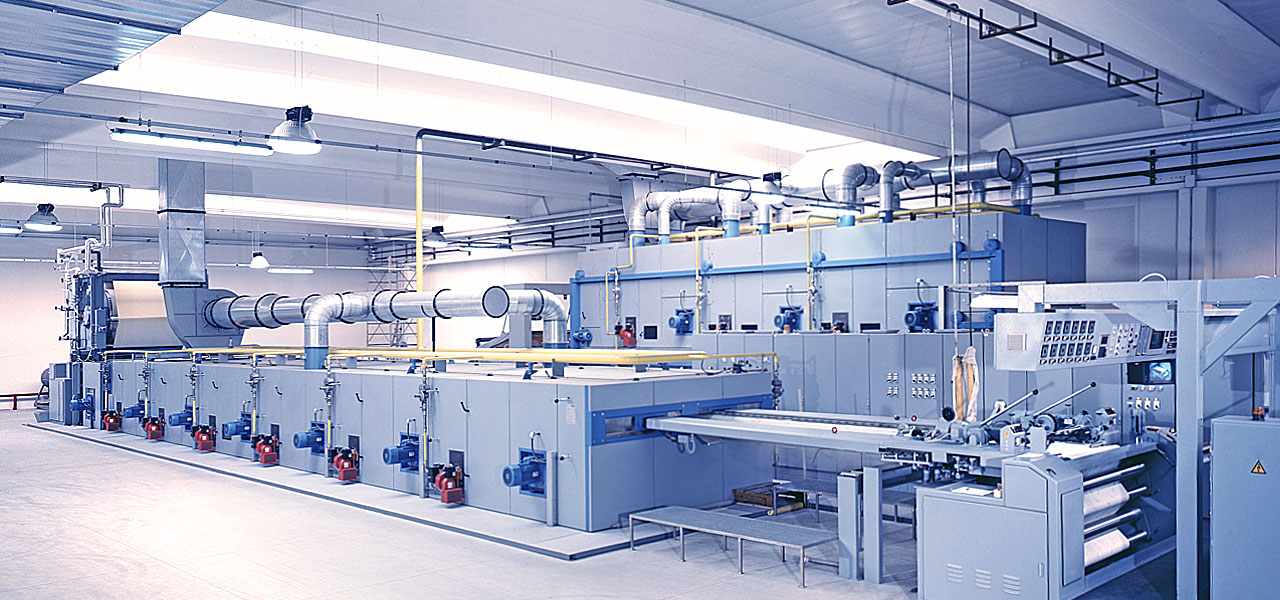 Air humidification in the textile industry